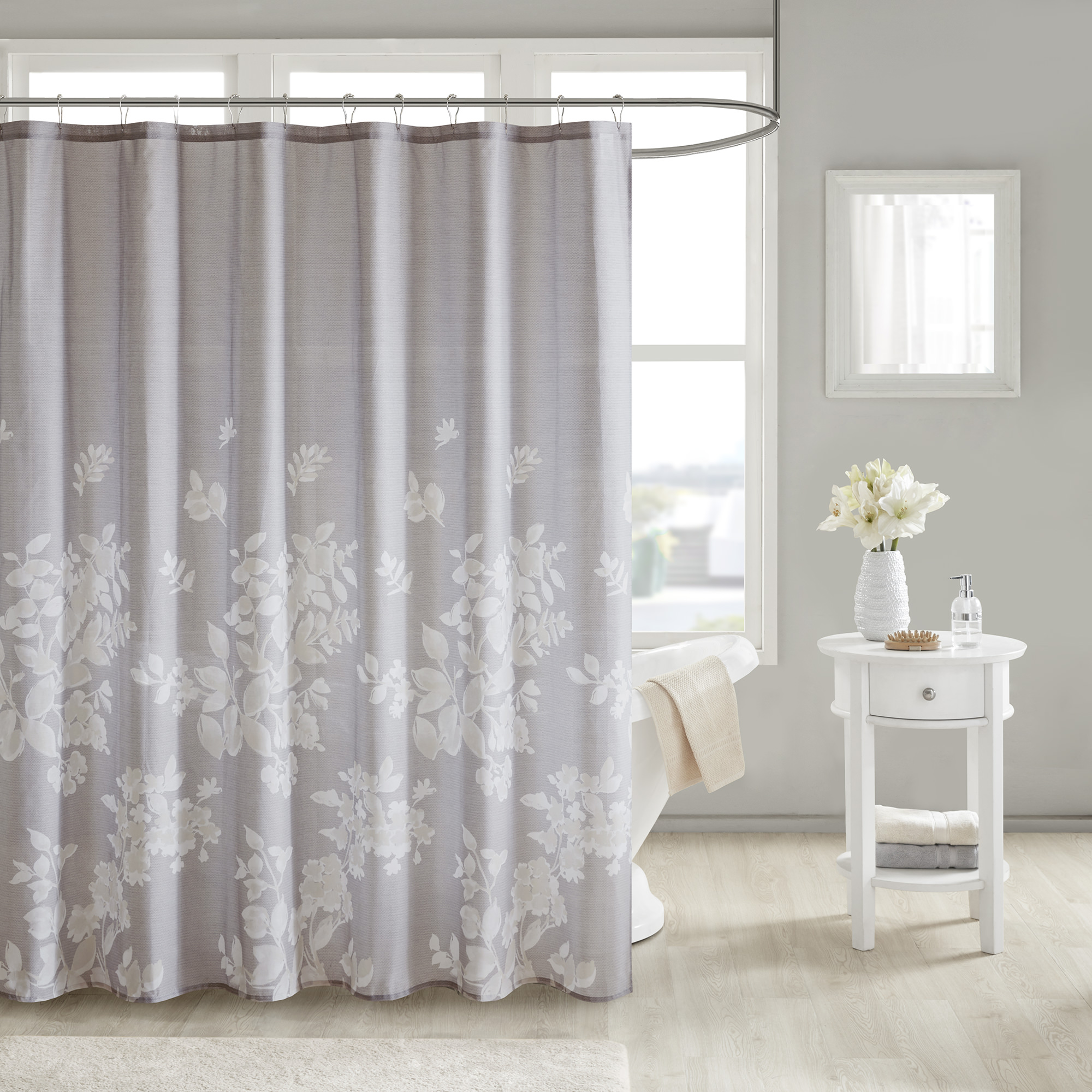 Home Essence Gisella 100% Cotton Printed Shower Curtain