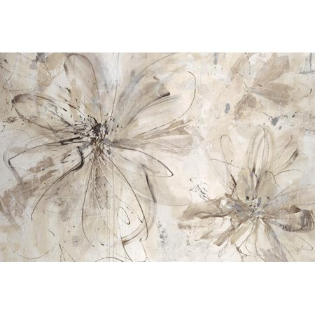 Milk and Honey Floral Abstract Shabby Chic Flowers Print Wall Art By Jodi Maas