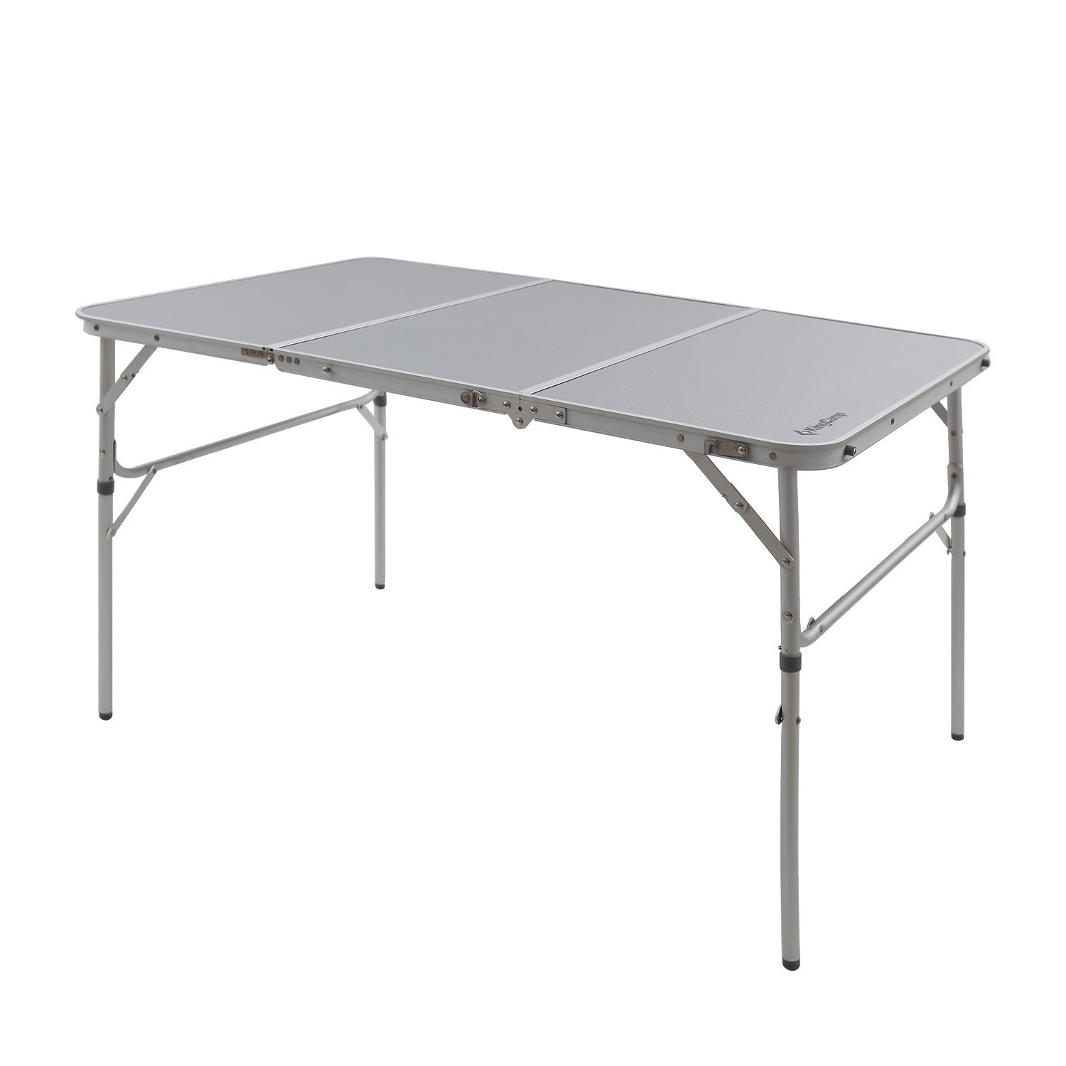 KingCamp Aluminum Alloy 3-Fold Camp Table with Carry Bag Adjustable Height Light Weight... by Kingcamp