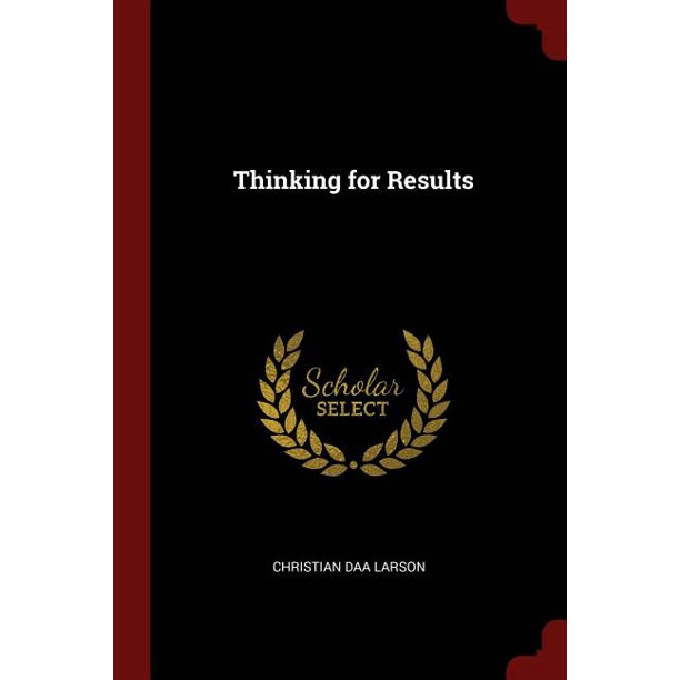 Thinking for Results (Paperback)
