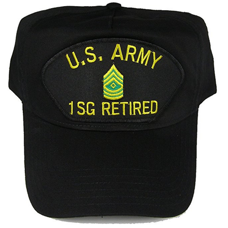 - US ARMY RETIRED 1SG FIRST SERGEANT E-8 TOP RANK HAT CAP NCO NON COMMISSIONED