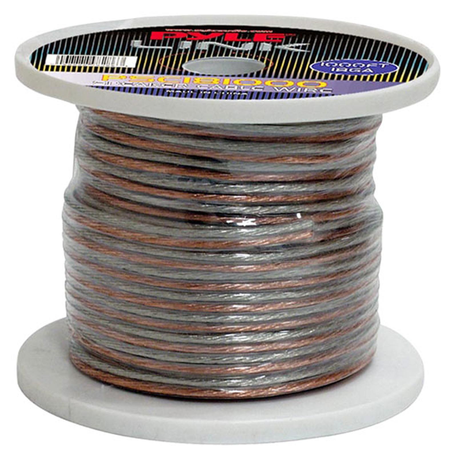 Pyle 18 Gauge 1000 ft. Spool of High Quality Speaker Zip ...