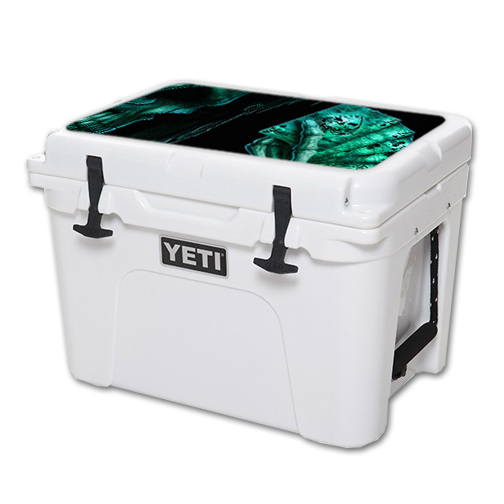 MightySkins Protective Vinyl Skin Decal for YETI Tundra 35 qt Cooler Lid wrap cover sticker skins Death