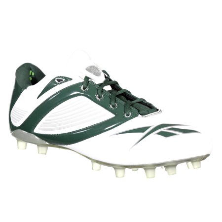 REEBOK PRO ALL OUT SPEED LOW M2 MENS FOOTBALL CLEATS WHITE & GREEN 12 (Nike Football Cleats All White)