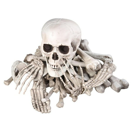 Bag of Skeleton Bones Skull 28pcs Set Props Horror Halloween Party Decoration