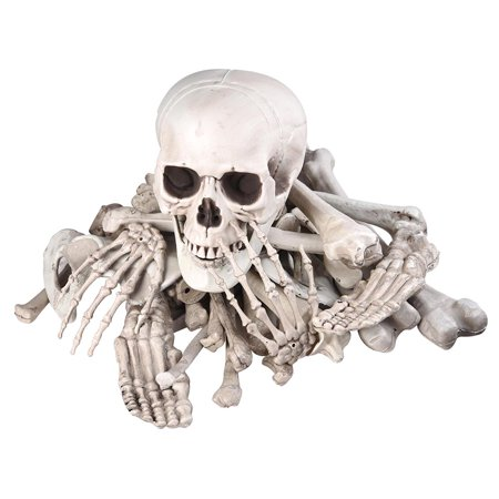 Bag of Skeleton Bones Skull 28pcs Set Props Horror Halloween Party Decoration - Halloween Decorations Props Sale