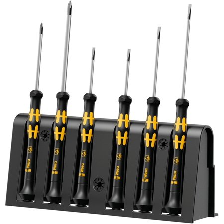 8 A/6 ESD Screwdriver Set & Rack for Electronic Applications (6 Piece Electronic Screwdriver)
