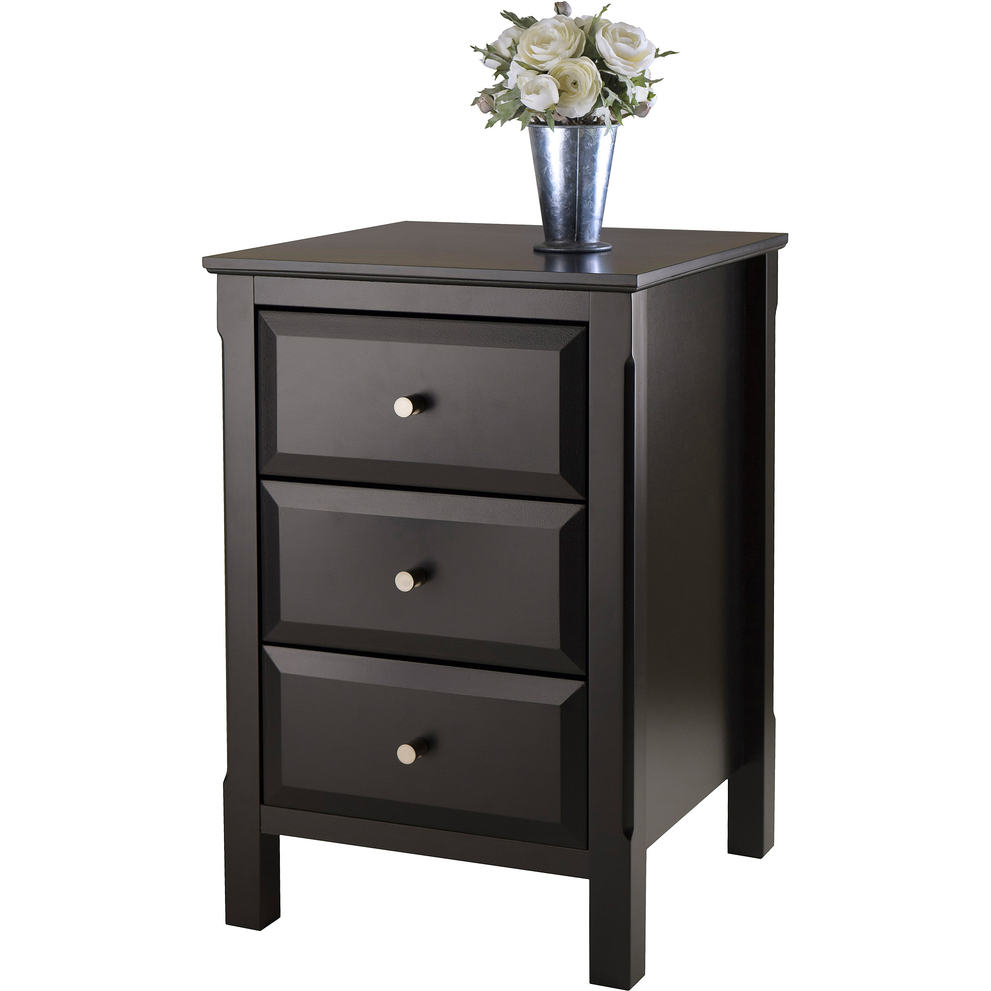 Timmy Nightstand Accent Table, Black by Winsome Wood