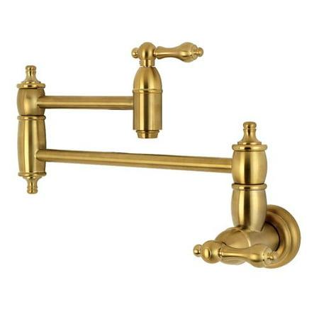 Kingston Brass Wall Mount Pot Filler Kitchen Faucet