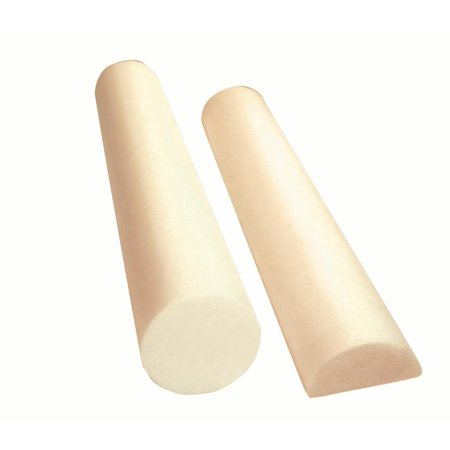 CanDo® Full-Skin White PE Foam Roller For Muscle Restoration, Massage Therapy, Sport Recovery, And Physical Therapy. Beige, 6