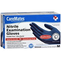 CareMates Powder-Free Nitrile Examination Gloves, Medium