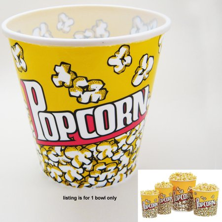 Retro Style Reusable Popcorn Bowl Plastic Container Movie Theater Bucket 7  Tall