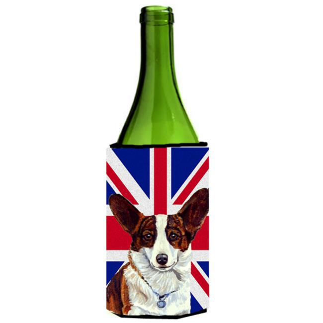 Corgi With English Union Jack British Flag Wine bottle sleeve Hugger - 24 Oz. - image 1 de 1