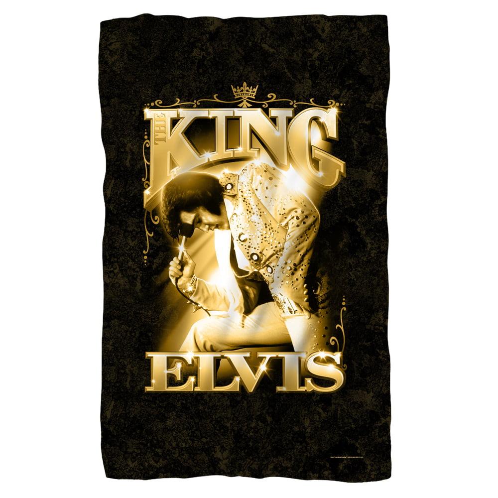 Elvis The King Fleece Blanket White One Size - Walmart.com