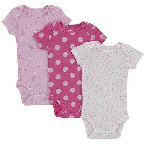 Child of Mine by Carter's Newborn Girl Bodysuits, 3-Pack