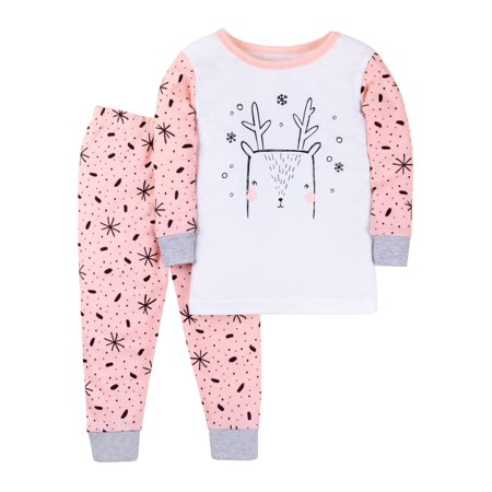 Little Star Organic - Little Star Organic Cotton Long Sleeve Tight Fit  Pajamas b0a8918af