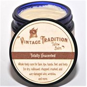 Truly Chemical Free Unscented Tallow Balm for Face Lips Hands