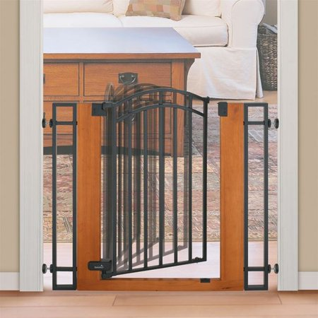 Summer Infant Wooden Metal Walk Thru Gate Walmart Com