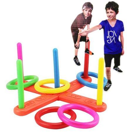 Moderna Hoop Ring Toss Plastic Quoits Garden Game Pool Toy Outdoor Family Kids Fun Set
