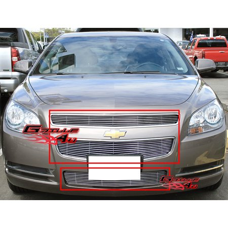 Compatible with 2008-2012 Chevy Malibu Billet Grille Grill Combo Insert C61015A