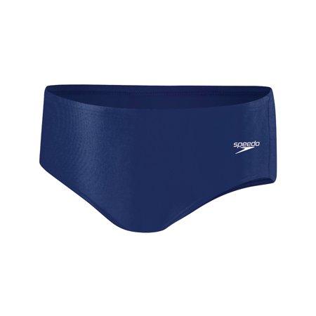 Speedo Men's Polyester Endurance Male Brief-Swimsuit-Size 30323436- Navy Blue (Speedo Badeanzug Navy Blue)