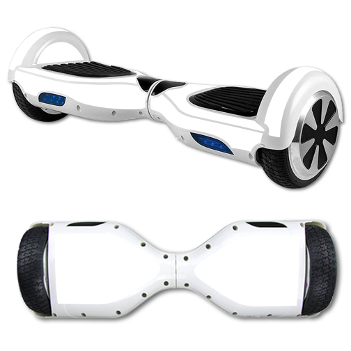 MightySkins Protective Vinyl Skin Decal for Hover Board Self Balancing Scooter mini 2 wheel x1 razor wrap cover sticker Solid White