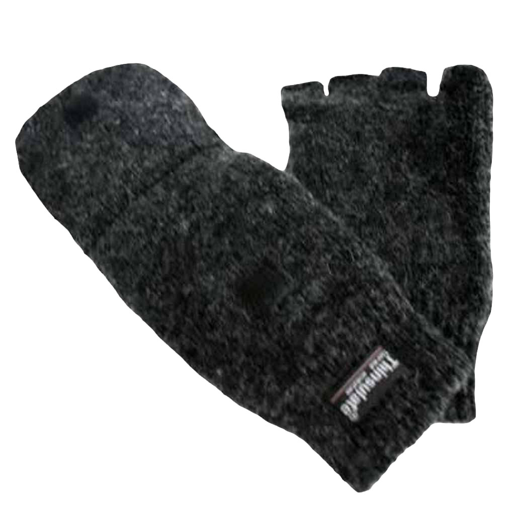 Luxury Divas Men's Rag Wool Half Finger Pocket Gloves