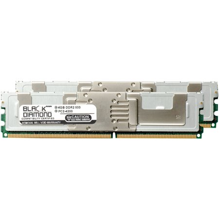 8GB 2X4GB Memory RAM for Dell PowerEdge 1955, 1950, 2950, 2900, SC1430 (1430SC) Black Diamond Memory Module 240pin PC2-4200 533MHz DDR2 Fully Buffered FBDIMM Upgrade