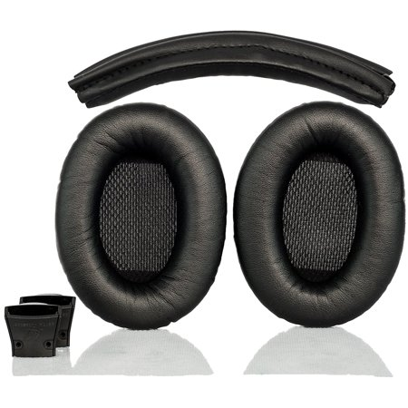 Replacement Ear Pads And Headband Cushion Pad For Boses Quiet Comfort 2 Qc2 And Quiet Comfort 15 Qc15 Headphones Qc2 And Qc15 Black