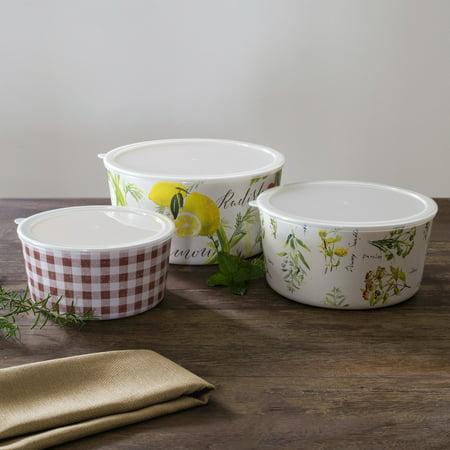 Pfaltzgraff Farmers Market (Mainstays Farmers Market Assorted Bowls with Lids )