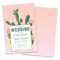 Personalized Cactus Fiesta Wedding Invitation