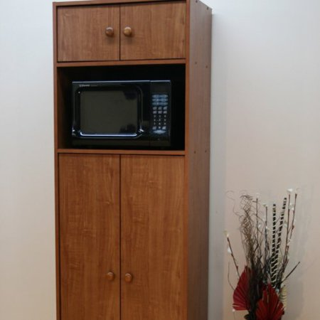Microwave Pantry Cabinet With Insert