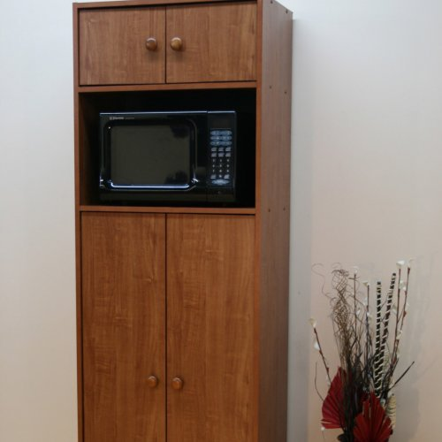 Superbe Microwave Pantry Cabinet With Microwave Insert