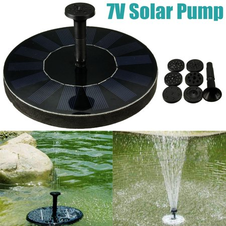 Floating Garden (New Solar Powered Water Floating Fountain Pump Panel Pool Garden Submersible for Bird Bath,Fish Tank,Small Pond,Garden Decoration and Patio )