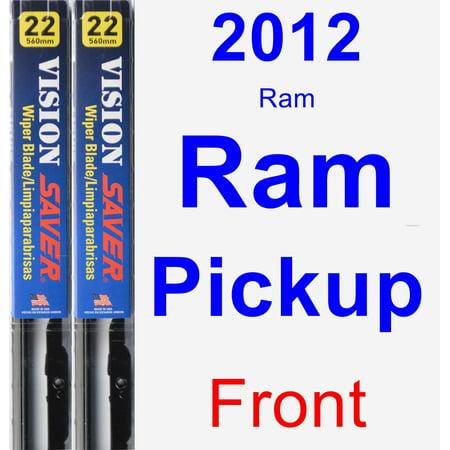 Ap1 Ram - 2012 Ram Ram Pickup Wiper Blade Set/Kit (Front) (2 Blades) - Vision Saver