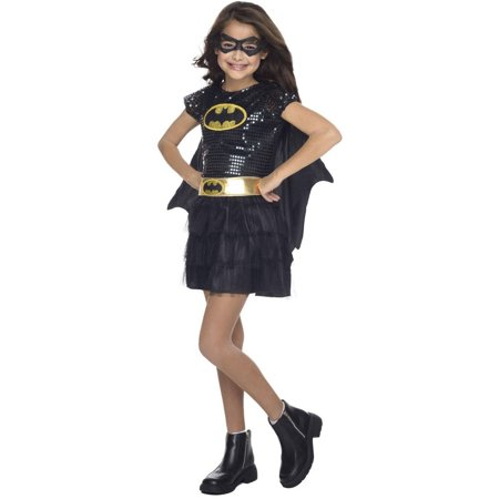 Batgirl Sequin Child Halloween Costume - Batgirl Costumes For Girls