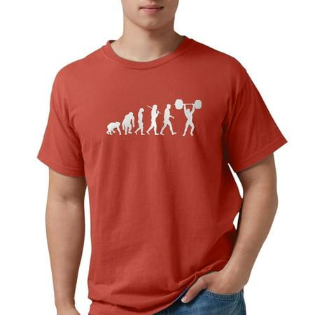 2b19a7b9 CafePress - Evolution Of Weightlifting T-Shirt - Mens Comfort Colors? Shirt  - Walmart.com