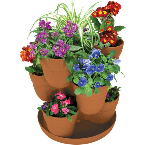 Emsco Group Flower Tower Stacking Planter