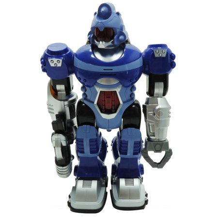 Power Warrior LED Light Up and Walking Super Robot Action Figure (4 Colors)
