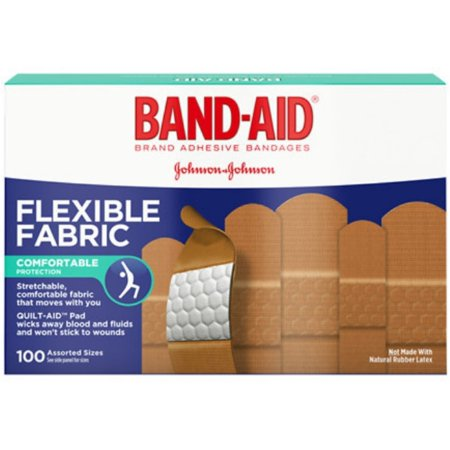 BAND-AID Flexible Fabric Adhesive Bandages Assorted 100 ea