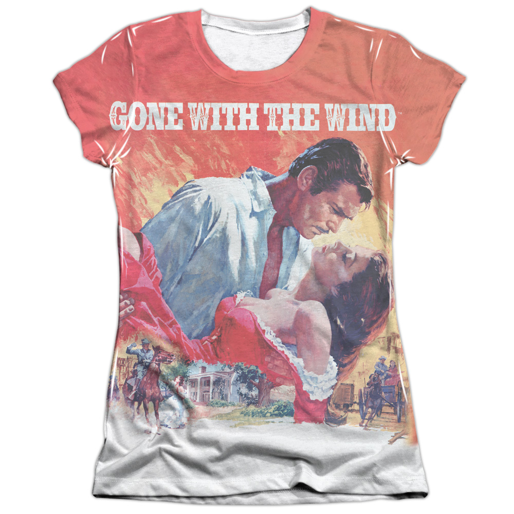 Gone With The Wind Poster Juniors Sublimation Shirt