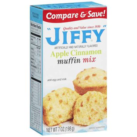 Jiffy apple cinnamon muffin mix 7 oz for Atkins cuisine all purpose baking mix where to buy