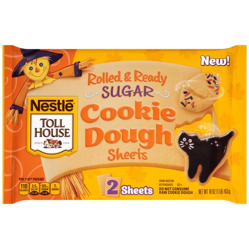 Nestle Toll House Halloween Sugar Cookie Dough Sheets, 2 ct, 16 oz