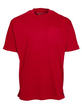 Men's Cotton Crew Neck T-Shirt with Extended Tail