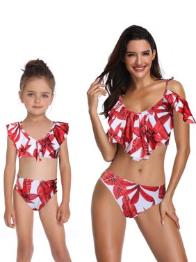 53f90983bad Product Image Mom and Me Tankini Set Two Piece Mother Daughter Bikini Set  Family Matching Swimsuit Bathing Suit