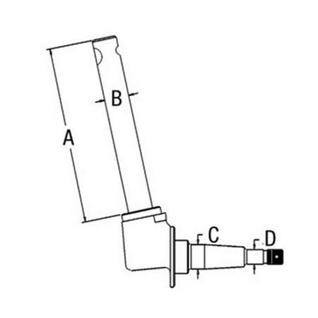 1EAS713A Spindle RH Fits White/Oliver/Mpl Moline Super 55