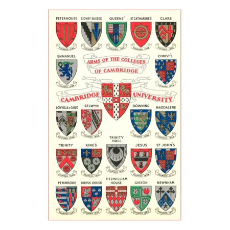 Coats of Arms of the Colleges of Cambridge Print Wall Art