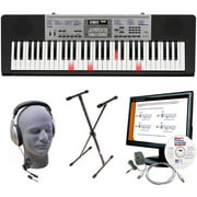 Casio Inc. LK175 PPK 61-Key Lighted Key Premium Keyboard Pack with Headphones, Power Supply, Stand, and eMedia Instruction