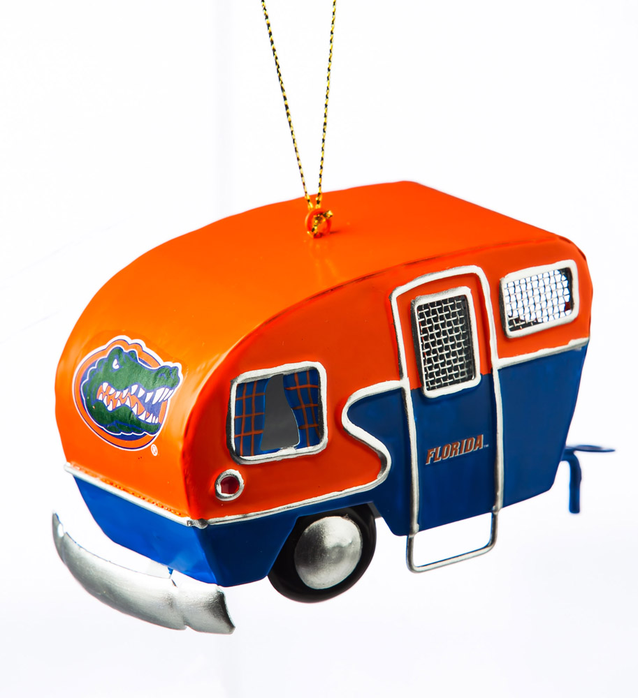 Florida Gators Metal Camper Ornament