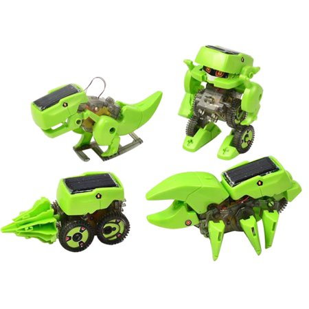 Educational Solar Robot Drilling Machine Dinosaur Insect Toy Kit DIY Assemble 4 In 1